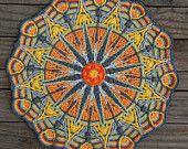 Crochet Overlay Mandala  No. 6, Pattern PDF