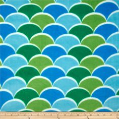 New Waves Fleece Blue/Green from @fabricdotcom  This soft, warm and cozy fleece is medium weight, double-sided and anti-pill. Perfect for throws, blankets, jackets, hats, mittens, scarves, slippers, pillows, vests, pullovers and much more! Colors include turquoise, green, lime and white.