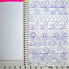 May Your Bobbin Always Be Full: Sketch Book.....Border Designs