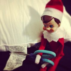300+ Elf on the Shelf Photos  Buddy!!! That's illegal!!!