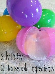 silly putty, this only calls for 2 ingredients that you already have at home.