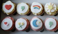 Care Bear Themed Birthday Cupcakes by There for the Baking, via Flickr