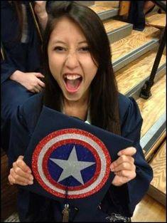 Oh my gosh I want a Batman graduation cap! - 28 Creative Graduation Caps