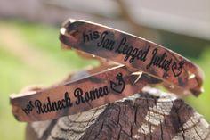 Her Redneck Romeo His Tan Legged Juliet  by MillersLeatherShop, $16.95