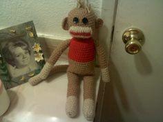 Sock Monkey free crochet pattern by Tawana's Cute Crochet