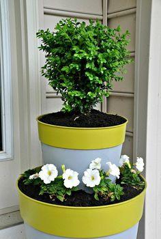 DIY Color-Block Planters