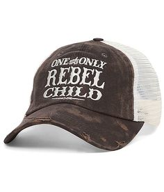 Junk Gypsy Washed Trucker Hat avail at the Buckle!