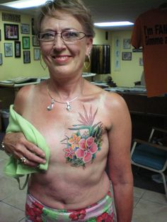Empowering. Tattoo for mastectomy scar. [p-ink.org]