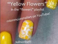 Yellow Flower Nail Art