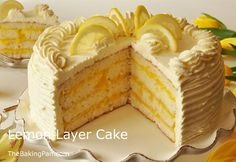 Lemon Layer Cake Recipe | TheBakingPan.com