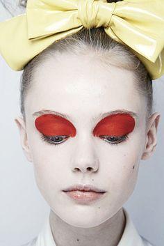 red eyeshadow   Tumblr