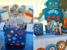Robot Themed Party - perfect with Rocking Robots!