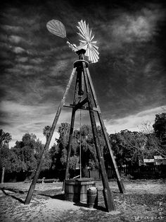 Windmill at Old Town San Diego, California.