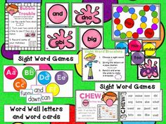 Sight Words that Stick! Three Sight word games Word wall letters and word cards and the best part? Everything is EDITABLE!!!