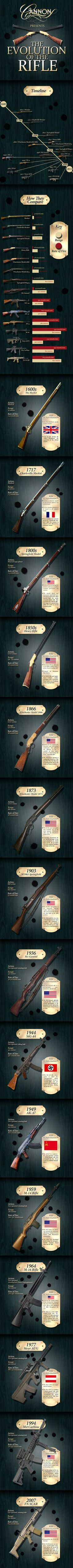 Evolution of the Rifle graphic created by DSM