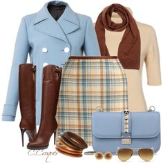 MiniSkirt & Boots, created by ccroquer on Polyvore