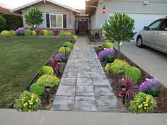 Low Maintenance Front Yard Landscaping | front-yard-landscaping - this looks just like the entrance to our house! Now I just need to add the landscaping!