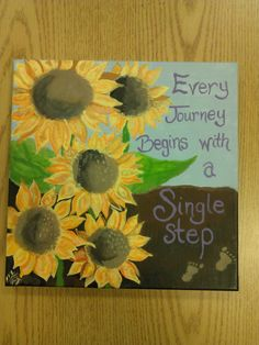 Love the idea of ordering a custom painting as a Christmas present! Sunflower Acrylic Painting with by TheSedulousSisters on Etsy, $35.00