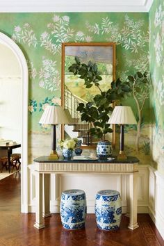 my absolute favorite -- De Gournay wallpaper