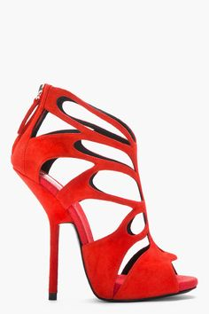 GIUSEPPE ZANOTTI #shoes #red #heels