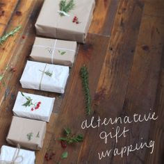 Alternative Gift Wrapping