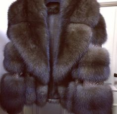 Sable fur and snakeskin jacket.