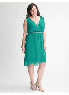 Plus Size Clip dot dress - Lane Bryant Women's Size 14/16,18/20,22/24,