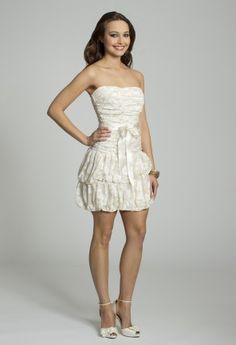 White Dresses - Strapless Lace Dress from Camille La Vie and Group USA
