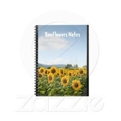 Notebook with sunflowers from Zazzle.com