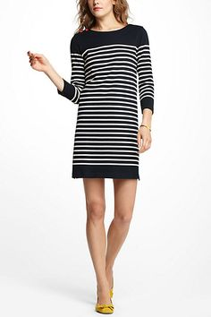 striped dress / anthropologie