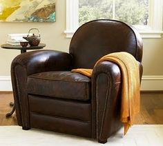 cozy club chair in the Compassion Quadrant of your bedroom...good Feng Shui welcome after a long day