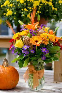 fall floral arrangement tutorial