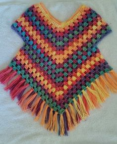 poncho sweater croch