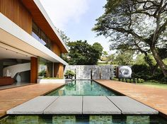 This amazing single family residence situated in Singapore was designed in 2013 by ONG&ONG Pte Ltd. #Architects > beautiful outdoor space