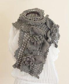 lovely crochet scarf