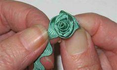 ricrac rose, flower