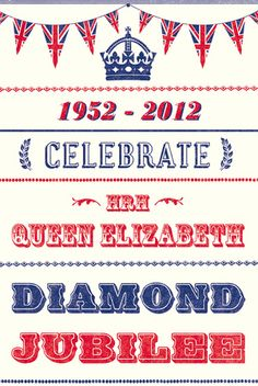 Fun poster to celebrate the queens jubilee