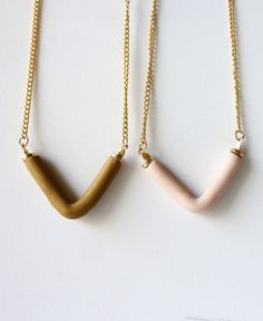 new V necklaces