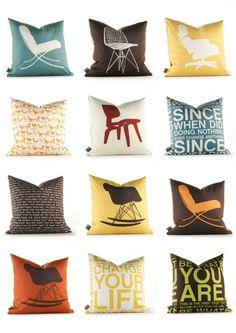 Funny pillows.