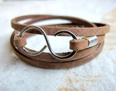 Infinity Mini - Brown Leather Wrap Bracelet