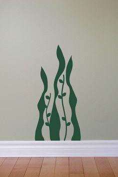 Seaweed wall decal by PutemInTheWall.