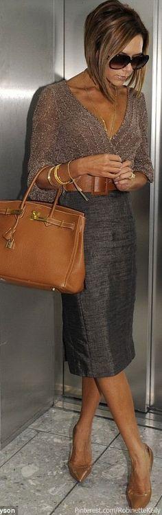 Victoria Beckham Street Style   Hermes Birkin Bag