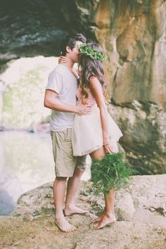 love all of this! // photo by Alissa Saylor Photography http://ruffledblog.com/dreamy-rock-quarry-engagement/