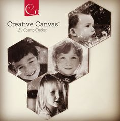 Photo Transfers on Cosmo Cricket hexagon canvases