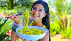 Mango avocado noodle salad. #fullyraw