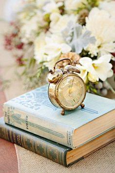 Antique Alarm Clock on  Books