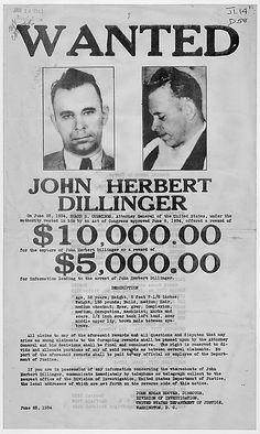 True crime from the Archives: Public Enemy No. 1, John Herbert Dillinger.