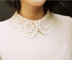 White Lace Collar FROM: {style inspiration | at the office : a wool skirt & a pretty lace collar} by {this is glamorous}, via Flickr