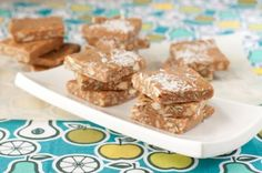 Guilt free nut and toffee squares - made with honey