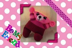 Funmigurumi Cuddlers: Hallie the Bear Too cute for words, lovable to the max! Free pattern. #freecrochetamigurumipatterns #freecrochetamigurumitoypatterns #freecrochetamigurumibear #craftybegonia